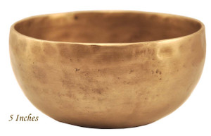 hand hammered singing bowl, 5 Inches Wide