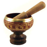 "4.5"" Red Singing Bowl"