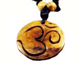 Tibetan Buddhist Om Symbol Yak Bone Necklace