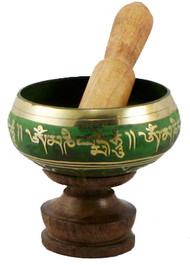 Green Four Inch Singing Bowl