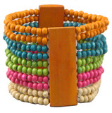 Tibetan Multi-Colored Wooden Bracelet