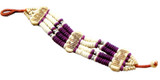 Tibetan Purple Yak Bone Beaded Bracelet