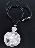 Tibetan Silver Circle Pendant Necklace