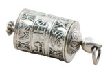 Tibetan Sterling Prayer Wheel Pendant