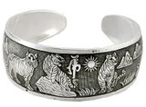 Tiger Bracelet made from White Metal