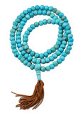 Yak Bone Mala- Turquoise-Colored Beads