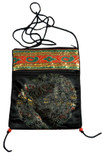 Tibetan Satin Prayer Beads Mala Bag or Passport Bag, Black