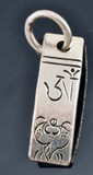 Tibetan Silver Handmade Buddhist Mantra Prayer Pendant with Conch Shell