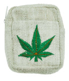 Hemp Wallet, Phone Case, Credit Card Case with Hemp Leaf