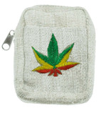 Hemp Wallet with Colorful Hemp Leaf Design
