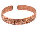 Eight Auspicious Signs Bracelet, Copper
