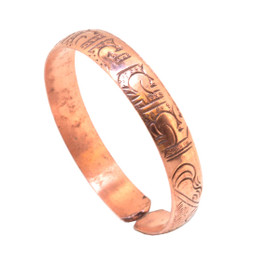 Copper Bracelet with Buddhist Mantra