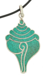 Turquoise Conch Shell Pendant