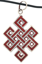 Eternity Knot Pendant, Coral