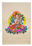White Tara Poster, Hand-Painted on Lokta Paper