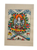 White Tara Poster, Colorful Design