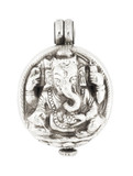 Ganesha Prayer Box Locket Pendant with a Hinge