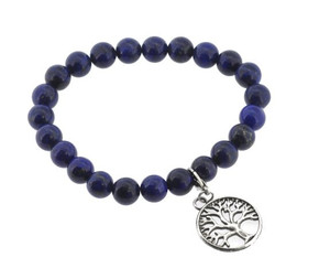 Lapis Lazuli Wrist Mala with Tree of Life Pendant