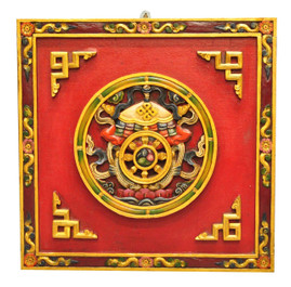 Eight Auspicious Signs Wood Wall Hanging