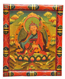 Guru Rinpoche Wooden Thangka Painting
