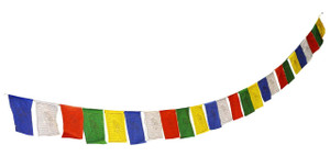 Tibetan Prayer Flags, 10 x 10 Inches, 22 Feet Long, Exquisite, High-Quality Set