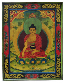 Shakyamuni Wooden Thangka Painting, Tibetan Masterpiece Painting