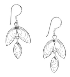 Angel Wing Earrings, Sterling Silver