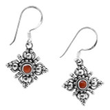 Coral Double Dorje Earrings