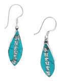 Turquoise Om Mani Padme Hum Earrings