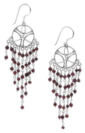 Amethyst Chandelier Earrings, Sterling Silver