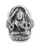 Manjushri Ring, Sterling Silver
