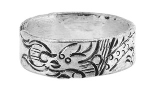 Dragon Ring, Tibetan Silver