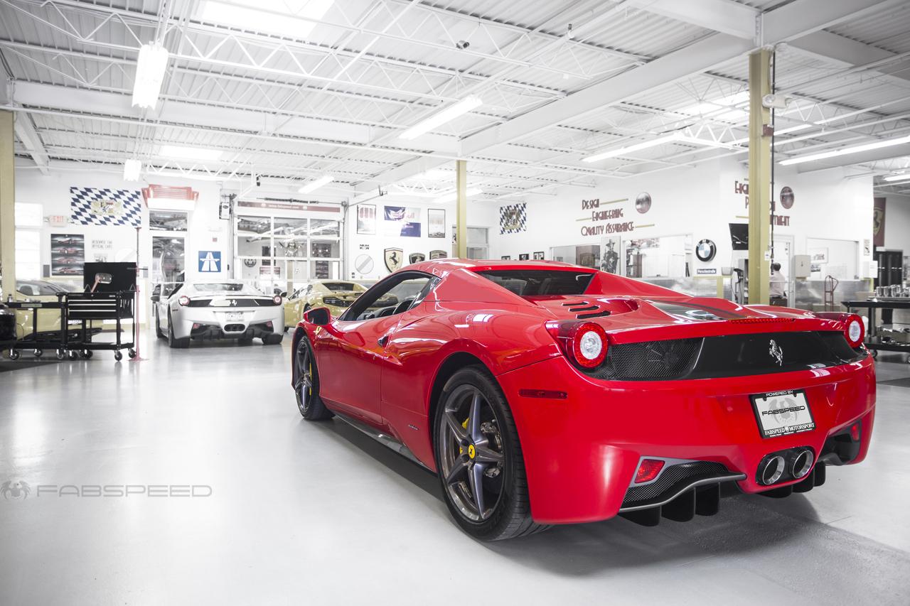 Ferrari ferrari spider 458 : IN THE SHOP | Ferrari 458 Spider Performance Package - Fabspeed ...