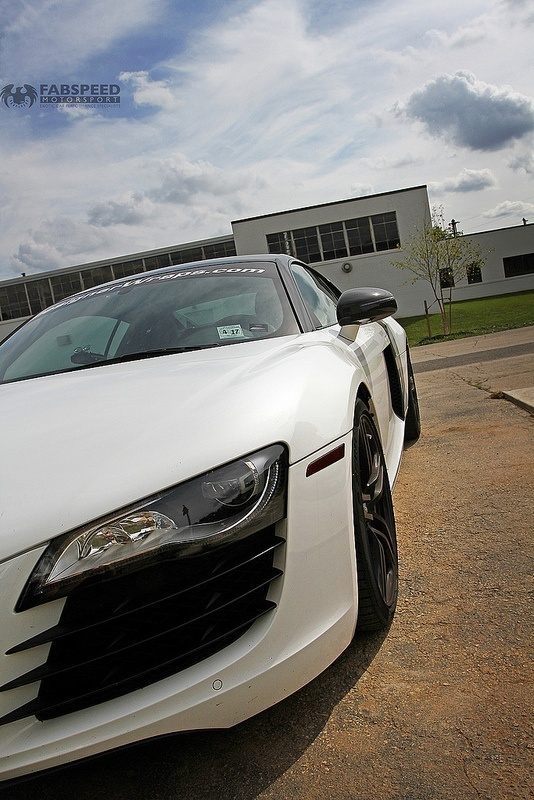 White Audi R8 Headlight