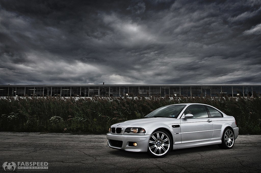 Silver BMW M3 Front Angle
