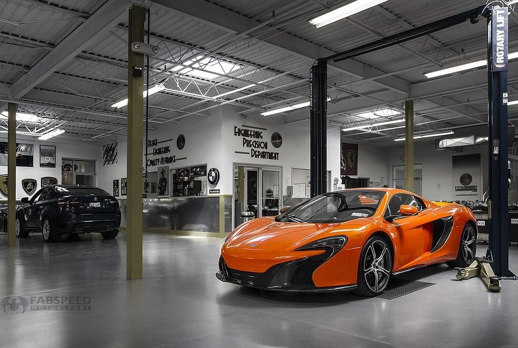 McLaren 650S in Shop