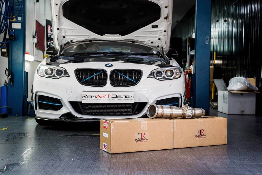 Evolution racewerks bmw n20 220 catted downpipe