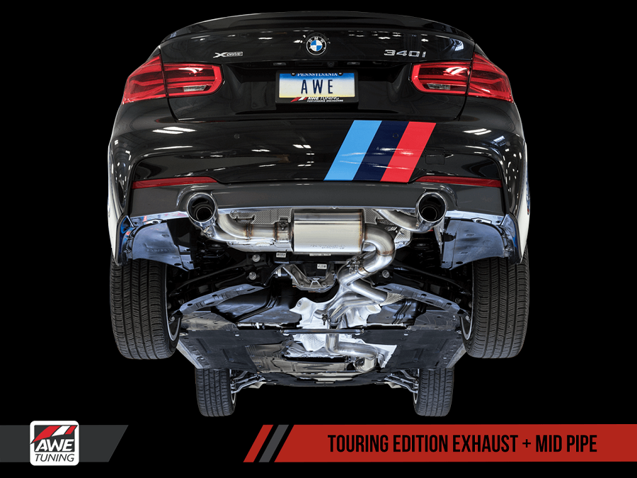 awe tuning bmw f30 340i 440i exhaust suite extreme power. Black Bedroom Furniture Sets. Home Design Ideas