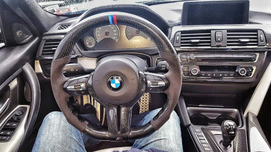 PERFORATED LEATHER STEERING WHEEL COVER BEST QUALITY FITS BMW 5 SERIES F10 2010