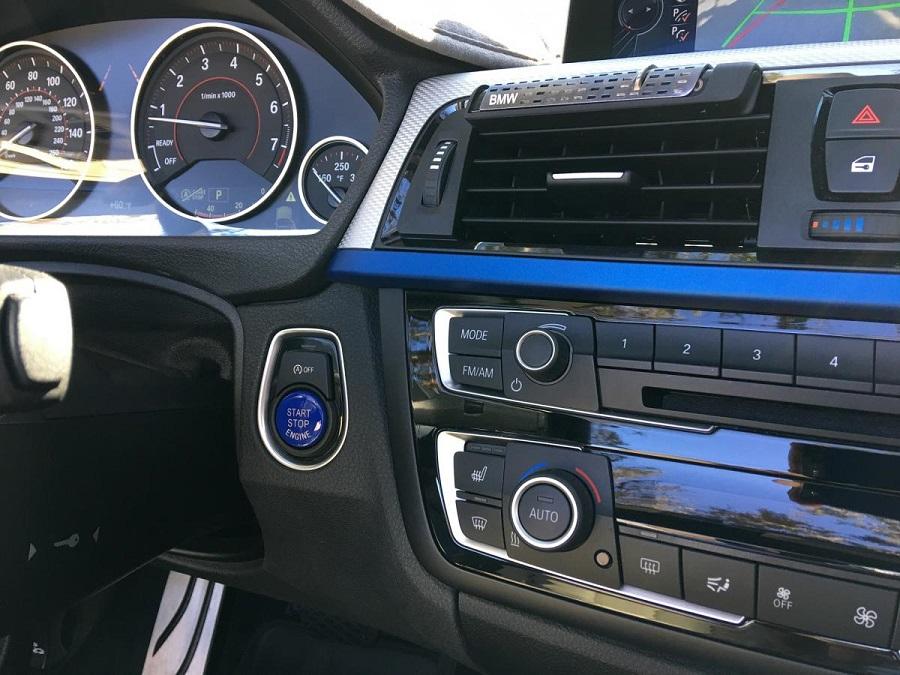 blue start stop engine button for bmw 2 3 4 5 6 7 series. Black Bedroom Furniture Sets. Home Design Ideas
