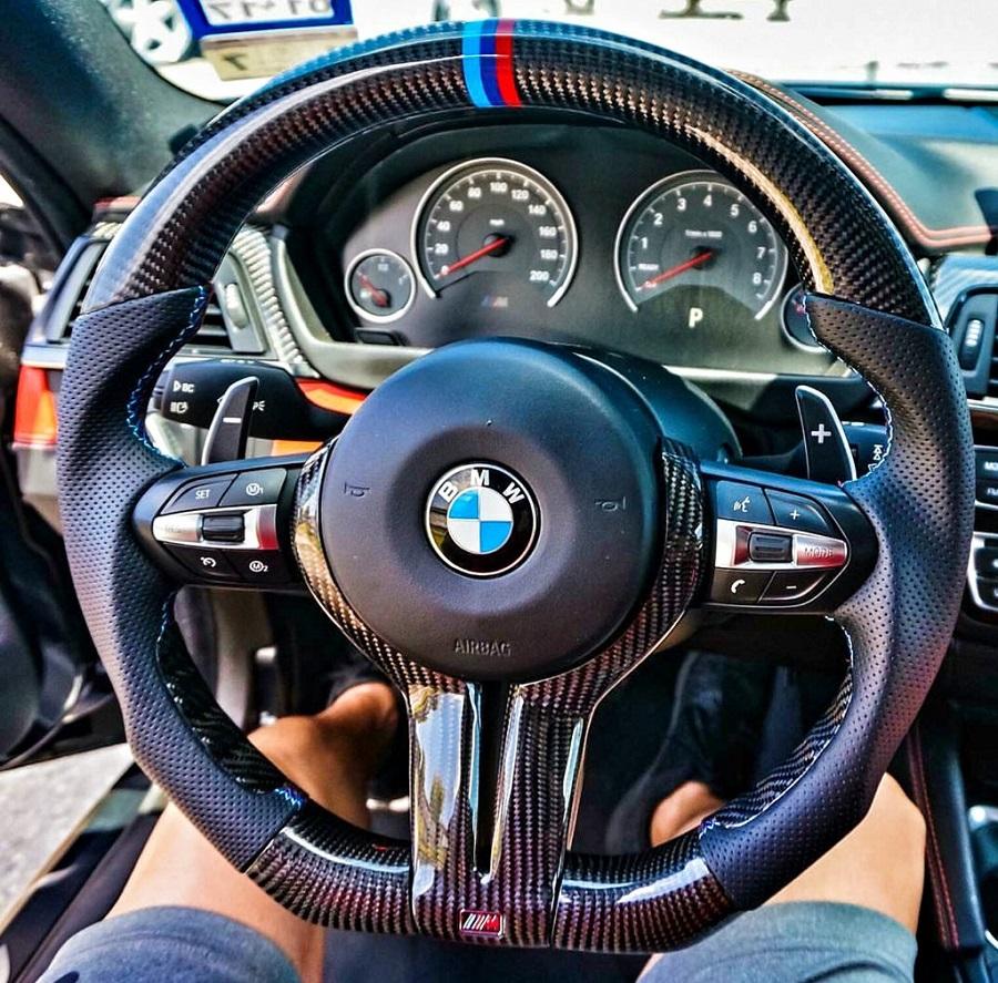 Dinmann Custom Carbon Fiber Steering Wheel FOR BMW F87M2