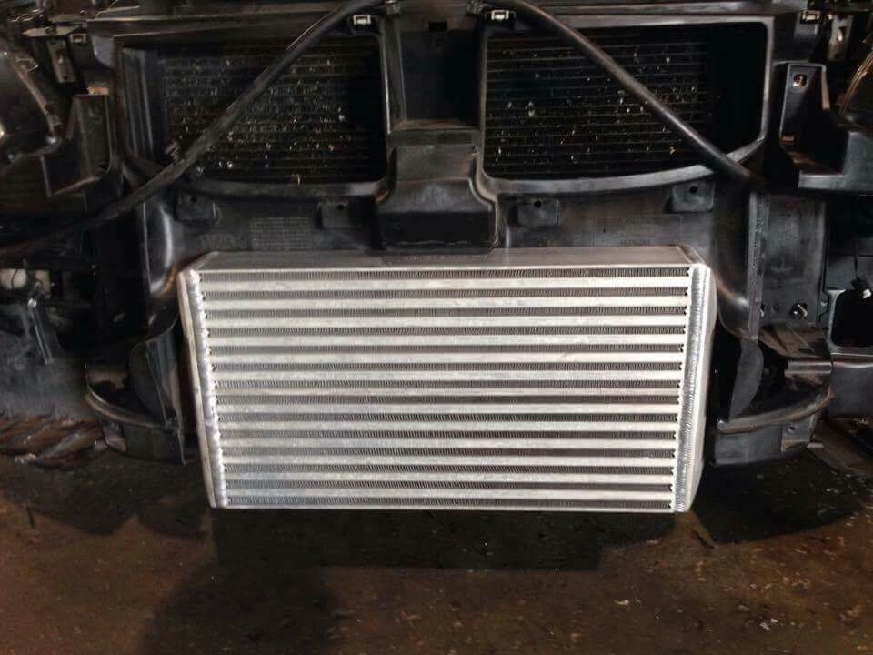 """VRSF 7.5"""" stepped core race intercooler BMW 135 335 N54 and N55 engines"""