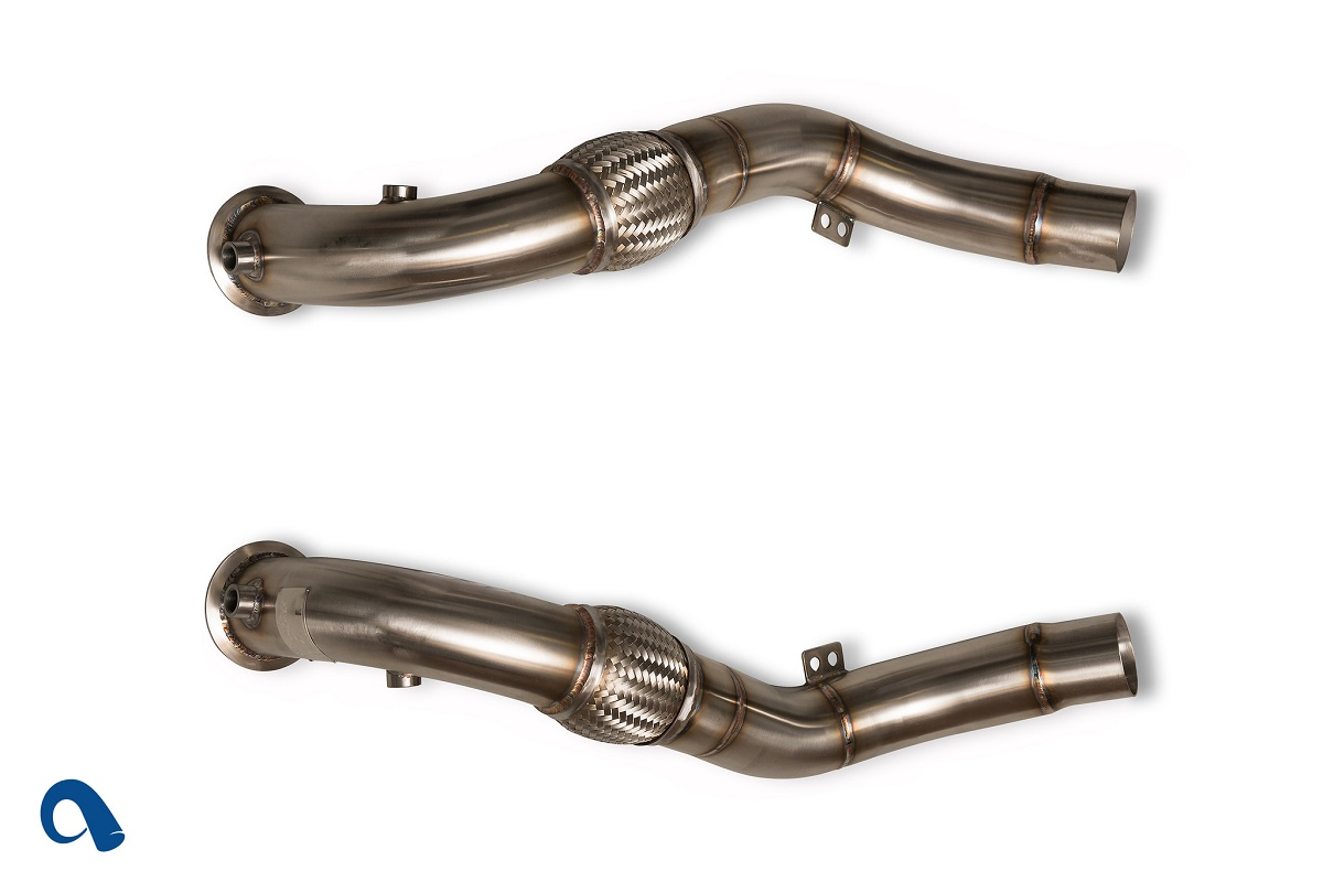 active autowerke bmw n63 downpipes for twin turbo v8 bmw. Black Bedroom Furniture Sets. Home Design Ideas