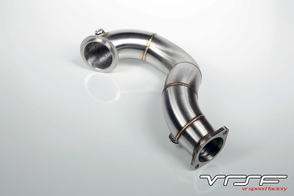 """VRSF N54 catless downpipes for 135 and 335 BMW. 3"""" Stainles steel downpipes for maximum power at the lowest price"""