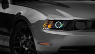 Raxiom Black Projector Headlights - CCFL Halo (10-12 GT, V6)