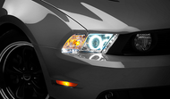 Raxiom Chrome Projector Headlights - CCFL Halo (10-12 GT, V6)
