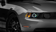 Raxiom Black Projector Headlights - CCFL Halo (10-12 GT, V6 with Factory HID)