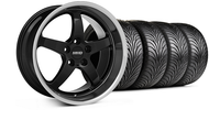 MMD Staggered Kage Black Wheel & Tire- 18x9/10 (05-14 V6; 05-10 GT)