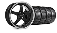 MMD Staggered Kage Black Wheel & Tire- 19x8.5/10 (05-14 GT,V6)