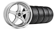 MMD Staggered Kage Polished Wheel &  Tire - 18x9/10 (05-14 V6; 05-10 GT)